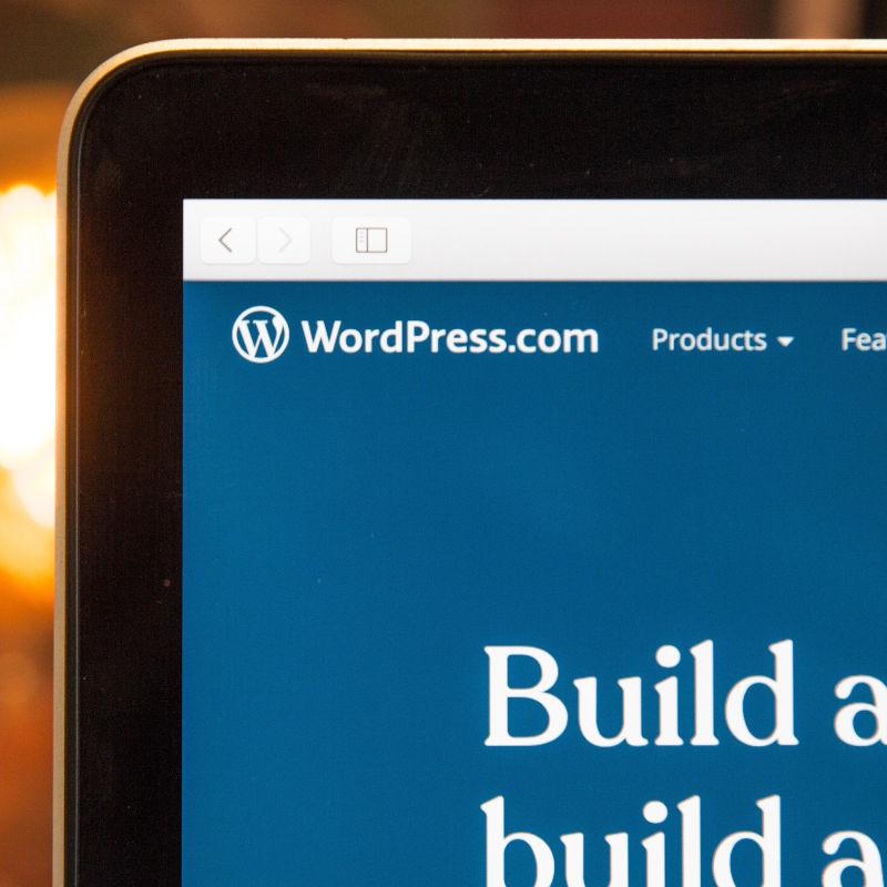 Bildschirmausschnitt mit Wordpress – Foto: Unsplash | by Webaroo